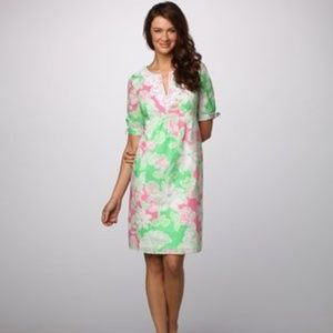 Lilly Pulitzer Andover Dress Floral Pattern Size 4